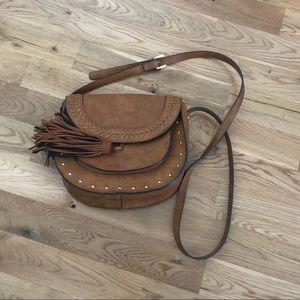 Steve Madden Leather Southwestern Crossbody Bag